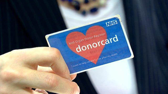 An NHS donor card