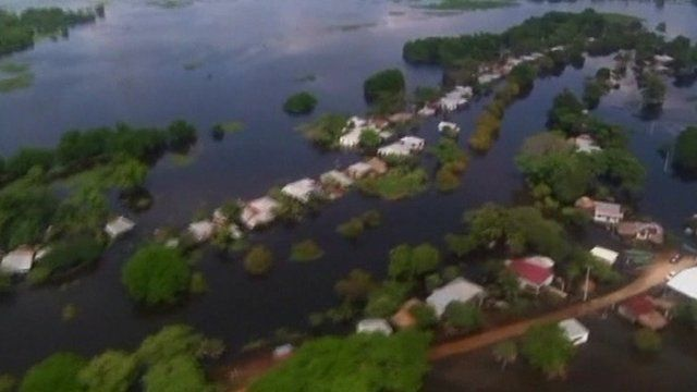 Flooding in the state of Tabasco on Mexico's Gulf coast