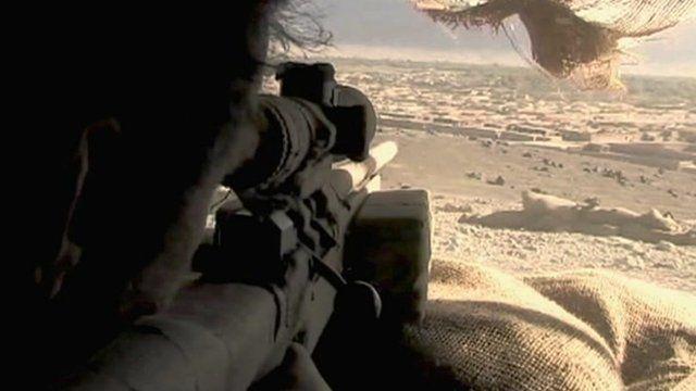 Looking down gun sights