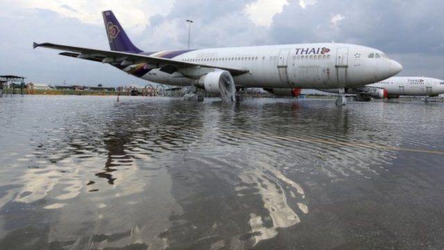 A plane at Don Muang airport