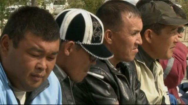 Kazakh workers