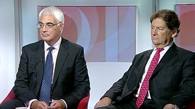 Alistair Darling and Nigel Lawson