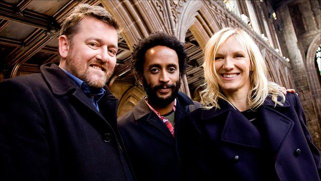 Guy Garvey, Pete Turner and Jo Whiley in Manchester Cathedral