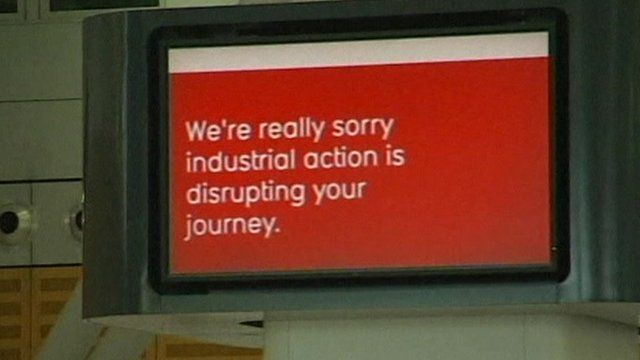 Airport screen showing disruption message