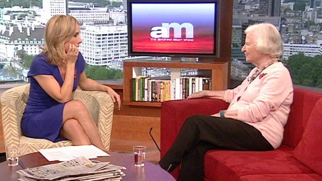 PD James talking to Sophie Raworth on The Andrew Marr Show
