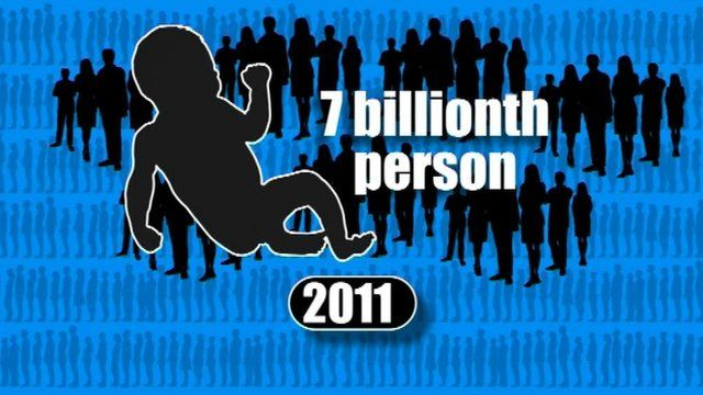 A graphic to illustrate the seven billionth person being born on Earth