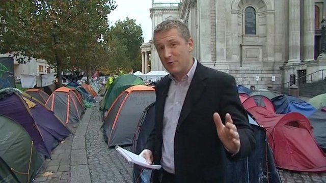 Keith Doyle outside St Paul's