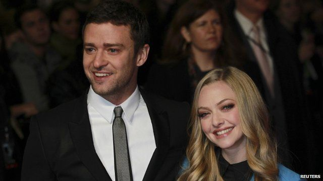 Justin Timberlake with Amanda Seyfried at the UK premiere of In Time