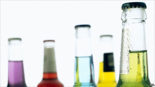 bottles of alcopops