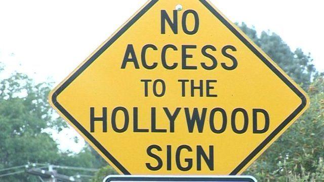 Hollywood no access sign