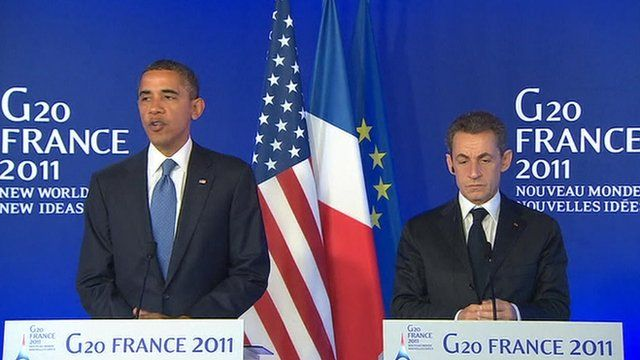Mr Obama and Mr Sarkozy