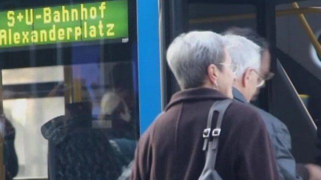 Germans using public transport