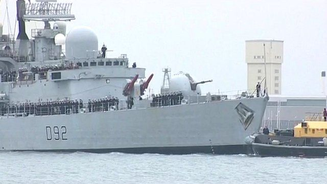 HMS Liverpool returns to Portsmouth