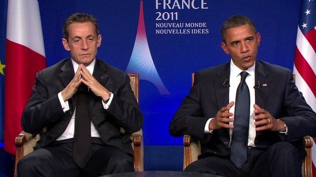 Nicolas Sarkozy and Barack Obama