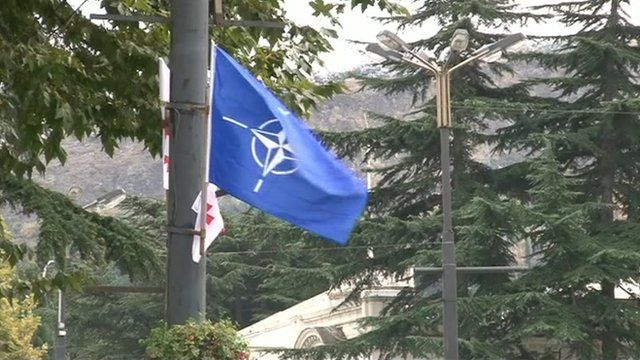 Nato flag in Georgia