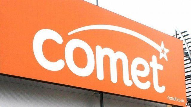 Comet sign outside shop