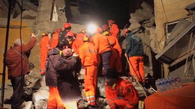 Rescue teams in Turkey