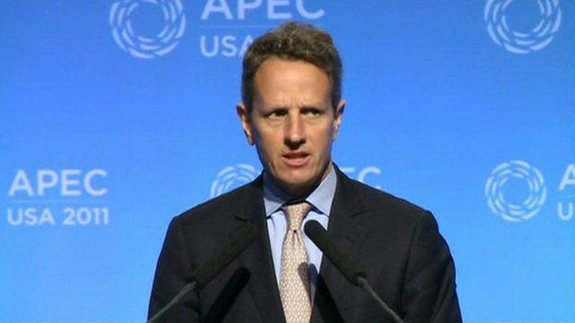 The US Treasury Secretary Timothy Geithner