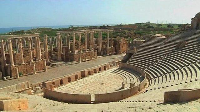 Leptis Magna remains, Libya
