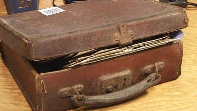 The suitcase of family memorabilia