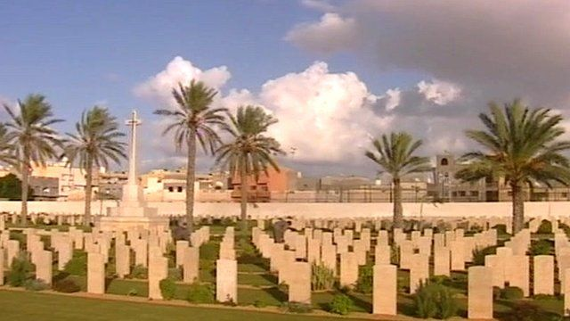 More than 1300 servicemen are buried in the Tripoli War Cemetery