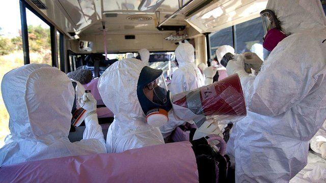 Media tour of Fukushima nuclear plant in Japan
