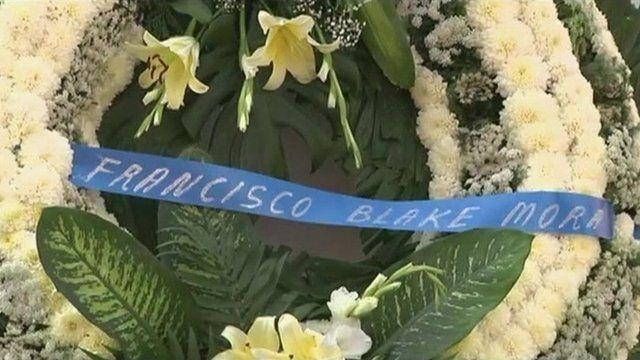 Wreath for Francisco Blake Mora