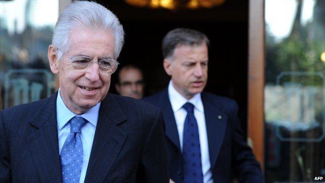 Former EU commissioner Mario Monti
