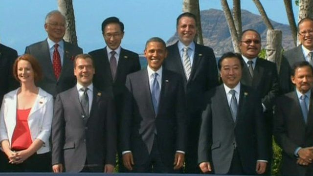 The APEC 'family photo' in Hawaii