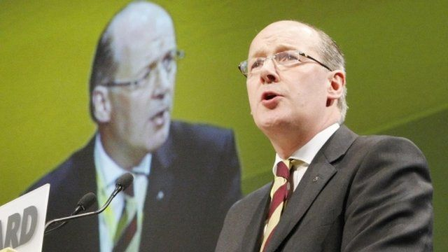 John Swinney at the SNP conference