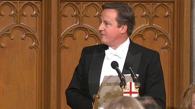 Prime Minister David Cameron at Guildhall