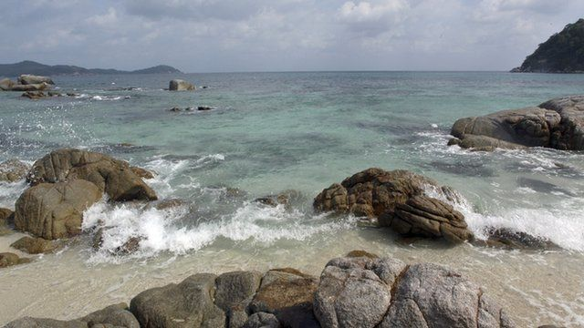 The South China sea, as seen from Perhentian beach