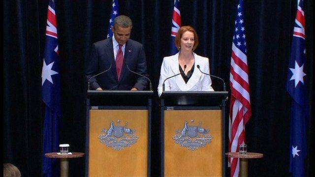 Julia Gillard and Barack Obama