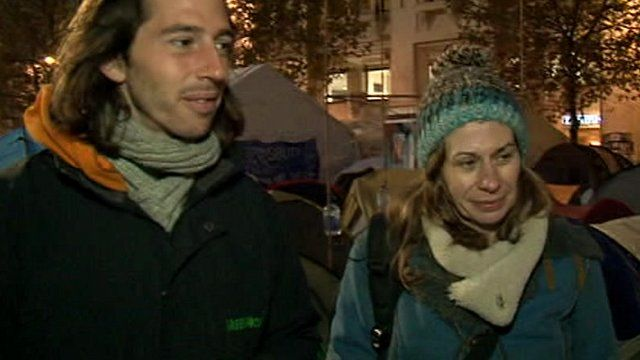 George Barda and Chloe Ruthven of Occupy