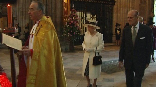 The Queen and Prince Phillip at Westminster Abbey