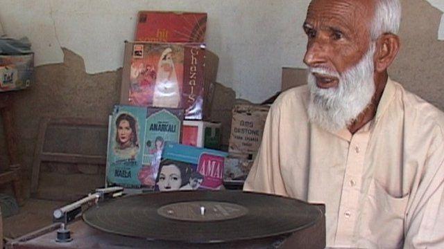 Pakistani farmer Muhammad Shafi and his rare records
