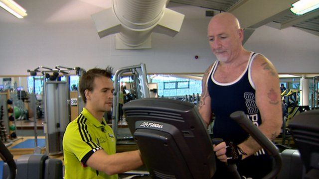 Michael Donoghue in the gym