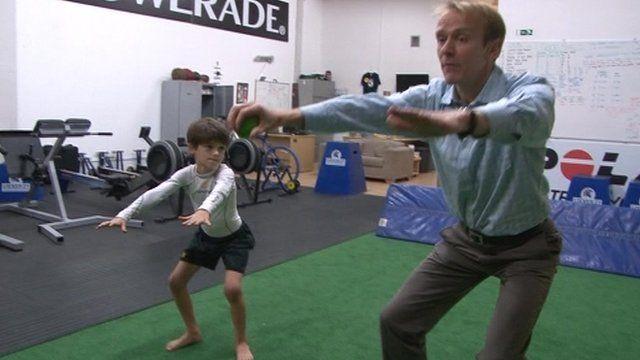 Practicing squats