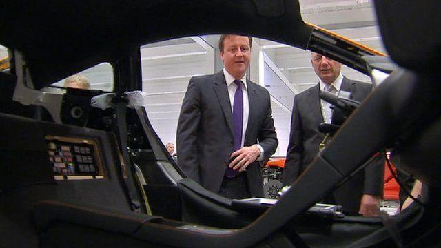 David Cameron at new McLaren factory in Woking