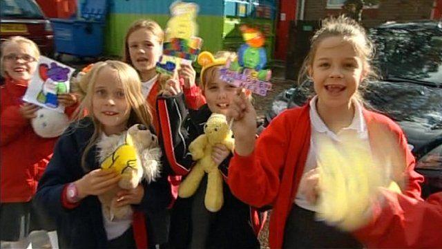 Kids taking part in Children in Need activities