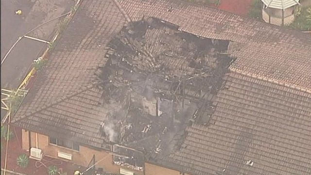 Aftermath of fire in Sydney