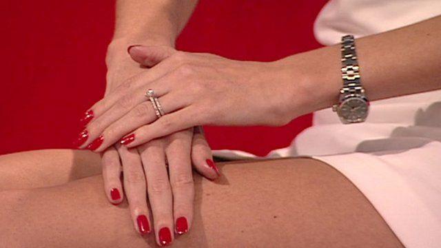 Model Gemma Howorth's hands