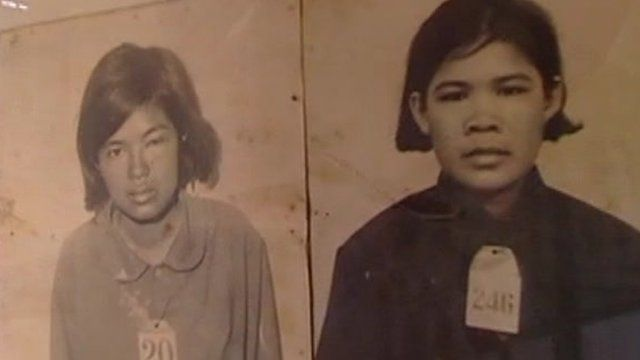 Photos of some of those who died under the Khmer Rouge regime