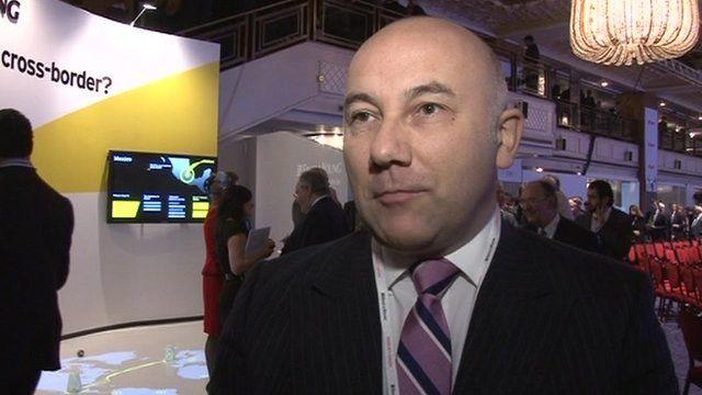 A delegate at the CBI conference