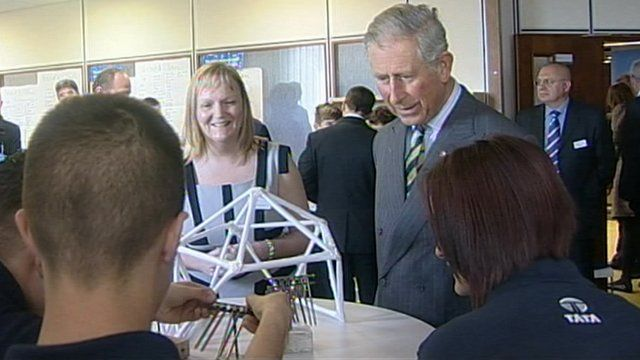 Prince Charles visiting young 'industrial cadets' on Teesside