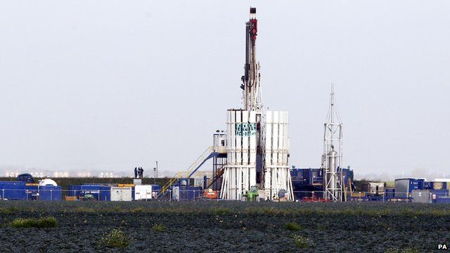 Protesters scaled a shale gas rig at Banks, near Southport, Merseyside.