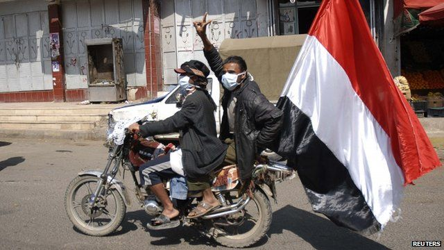 Anti-government protesters in Yemen