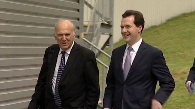 Vince Cable MP and Chancellor George Osborne