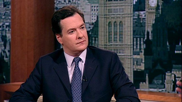 Chancellor George Osborne on The Andrew Marr Show