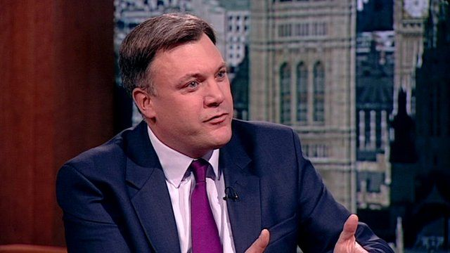Shadow Chancellor Ed Balls on The Andrew Marr Show
